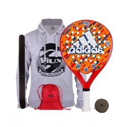 pack de padel adidas step junior y gymsack siux