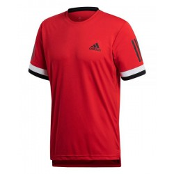 camiseta de padel adidas Club 3 stripes