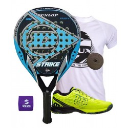 pack de padel dunlop strike y zapatillas wilson kaos safety