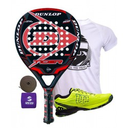 pack de padel dunlop tiger y zapatillas wilson kaos safety