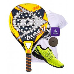 pack de padel dunlop luxury y zapatillas wilson kaos safety