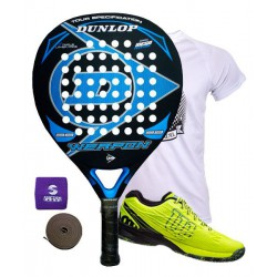 pack de padel dunlop weapon y zapatillas wilson kaos safety