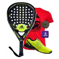 pack de padel adidas adipower attk y zapatillas wilson kaos safety