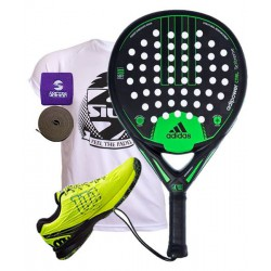 pack de padel adidas adipower ctrl y zapatillas wilson kaos safety