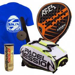 pack de padel ares arrow y paletero padel session matrix 3