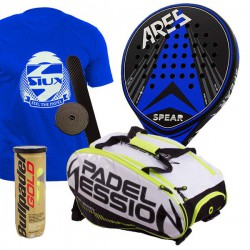 pack de padel ares spear y paletero padel session matrix 3