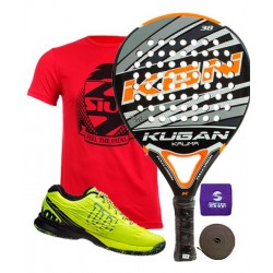 pack de padel kugan kalima y zapatillas wilson kaos safety