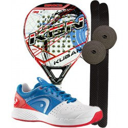 pack de padel kugan siroco y zapatillas head sprint team clay