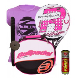 pack de padel royal padel rp 790 whip woman y bolso bullpadel