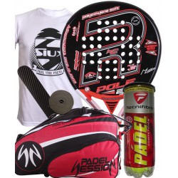 pack de padel royal padel pole 25 anos y paletero padel session