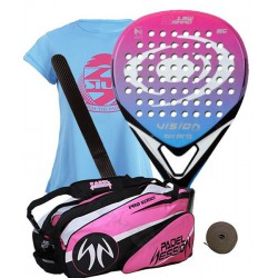 pack de padel vision orka bl 1.5 woman y paletero padel session series pro