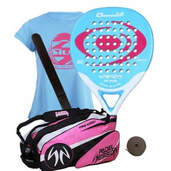 pack de padel vision obsession 1.5 y paletero padel session series pro