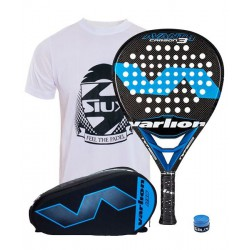 pack de padel varlion avant hexagon carbon 3 y paletero varlion hexagon
