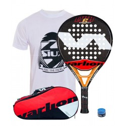 pack de padel varlion lw carbon hexagon 6 y paletero varlion ergonomic