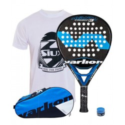 pack de padel varlion avant hexagon carbon 3 y paletero varlion ergonomic