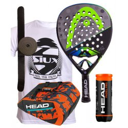 pack de padel head graphene touch alpha pro y paletero monstercombi
