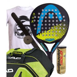 pack de padel head stratos y paletero head core combi