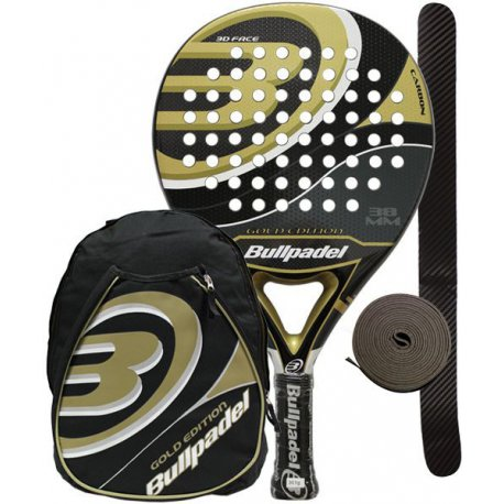 pack de padel bullpadel gold edition