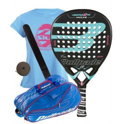 pack de padel bullpadel vertex 2 woman y paletero bullpadel avantline