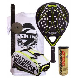 pack de padel padel session pala y paletero matrix 3